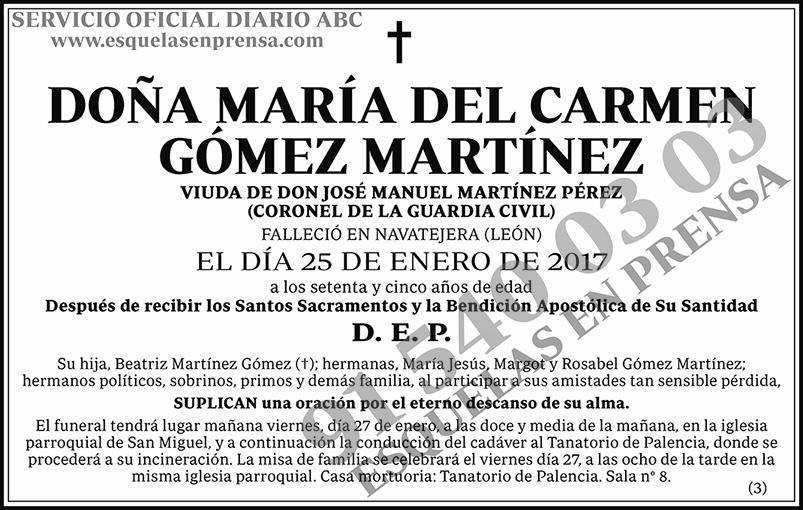 María del Carmen Gómez Martínez